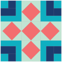 Floored (second color way) by Anja Clyke ofAnja Quilts