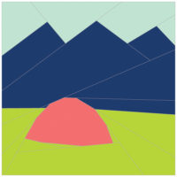 Mountain Camping by Renee Hoffman of Quilts of a Feather