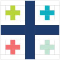 Georgian Flag by Sandra Louise ofOne Million Stitches