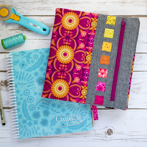 Free Pattern: Zippy Quilter's Planner Cover PDF Pattern