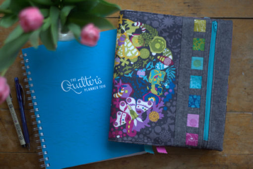 Riot of Color Quilter's Planner Cover PDF