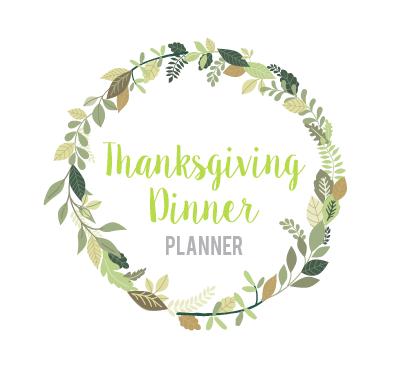 Thanksgiving Dinner Planner Printable PDF