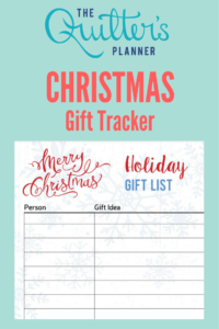 Holiday Gift Tracker by The Quilter's Planner: Free Download