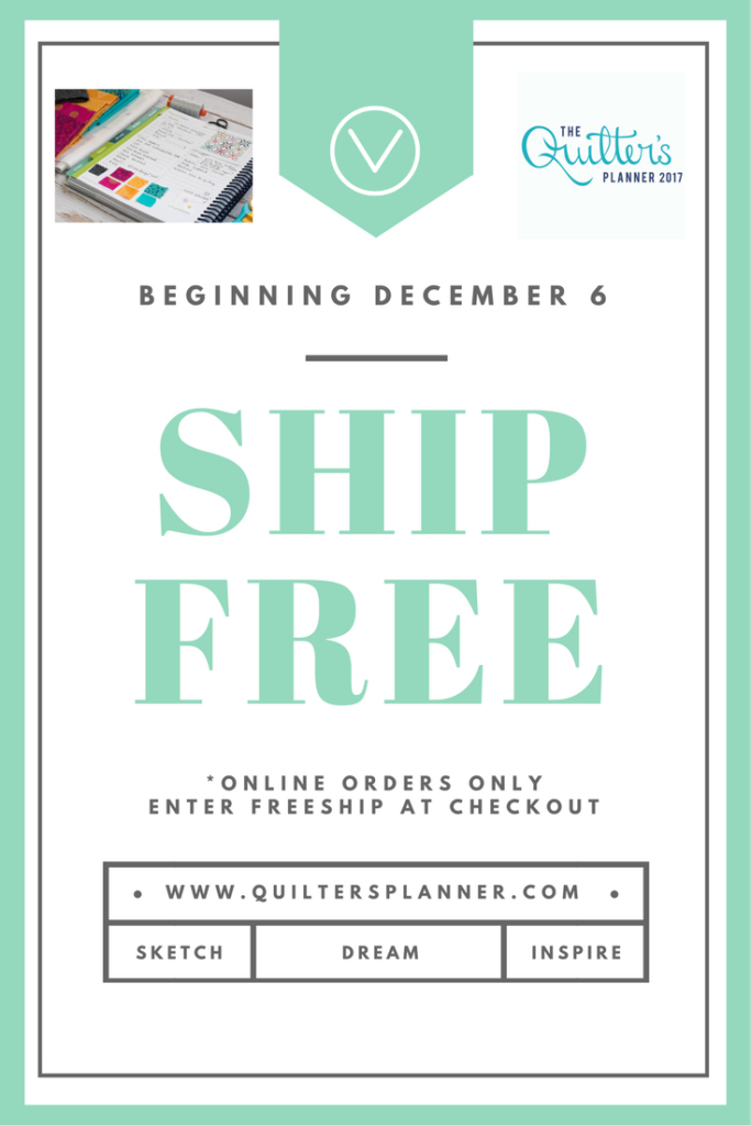 Free Shipping on your Quilter's Order