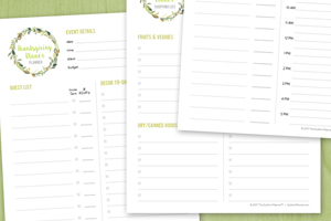Thanksgiving Dinner Planner Printable PDF