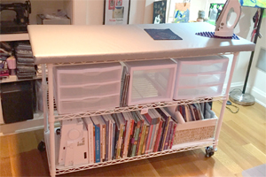 DIY Pressing Table & Rolling Storage Cart for your Sewing Room