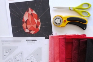 How to Chain Piece a Paper Piecing Pattern