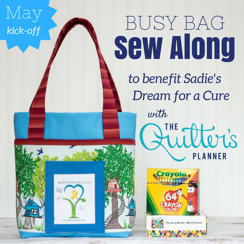 Sadie's Dream Sew Along quilters planner busy bag charity