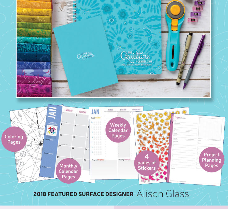 The Quilter's Planner 2018 Details!