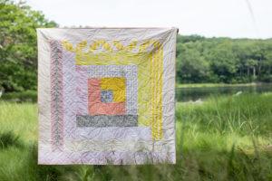 Log Cabin by Karen Lewis of Karen Lewis Textiles for the 2018 Quilter's Planner