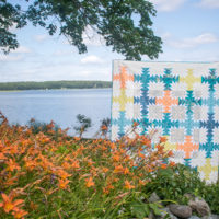 Daylily by Sharon Holland of Sharon Holland Designs for the 2018 Quilter's Planner