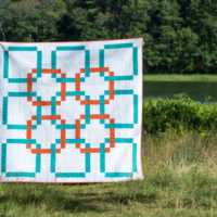 Linked Within by Paige Alexander of Quilted Blooms for the 2018 Quilter's Planner