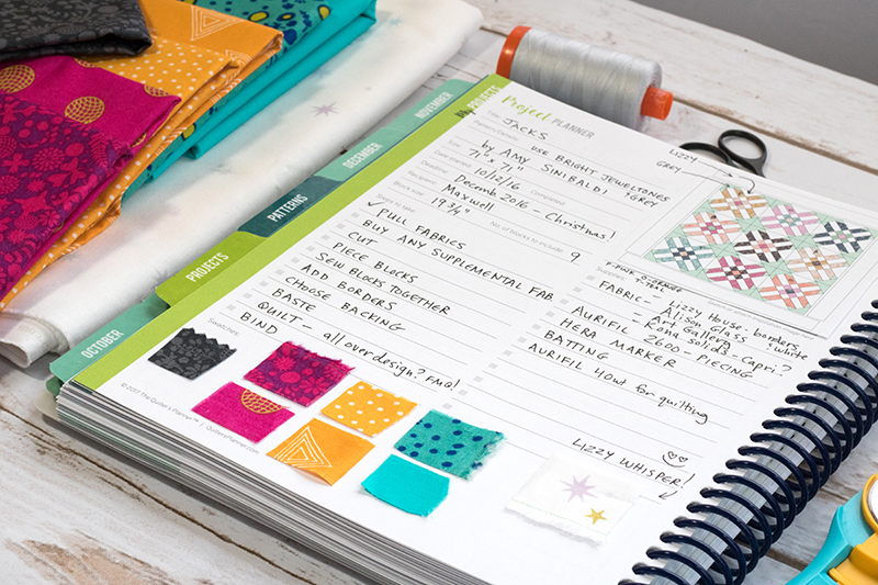 Quilting Project Planning Pages PDF (fits 2019 planner)