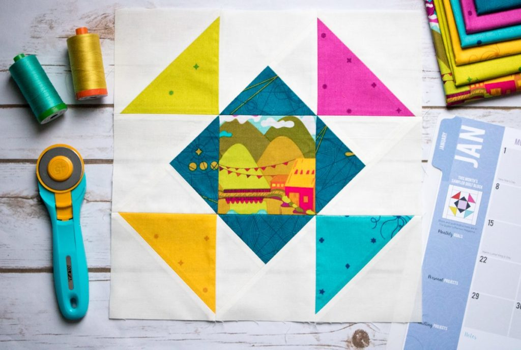 Block 1 2018 Quilter's Planner Block of the Month Sew Along