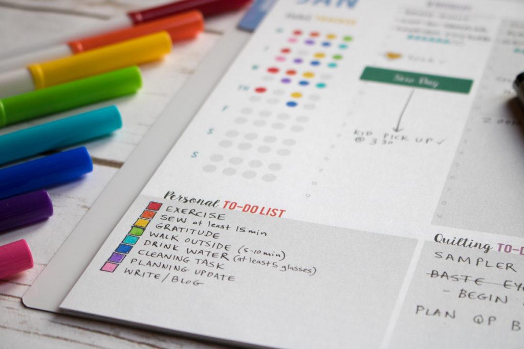 habit tracker quilters planner