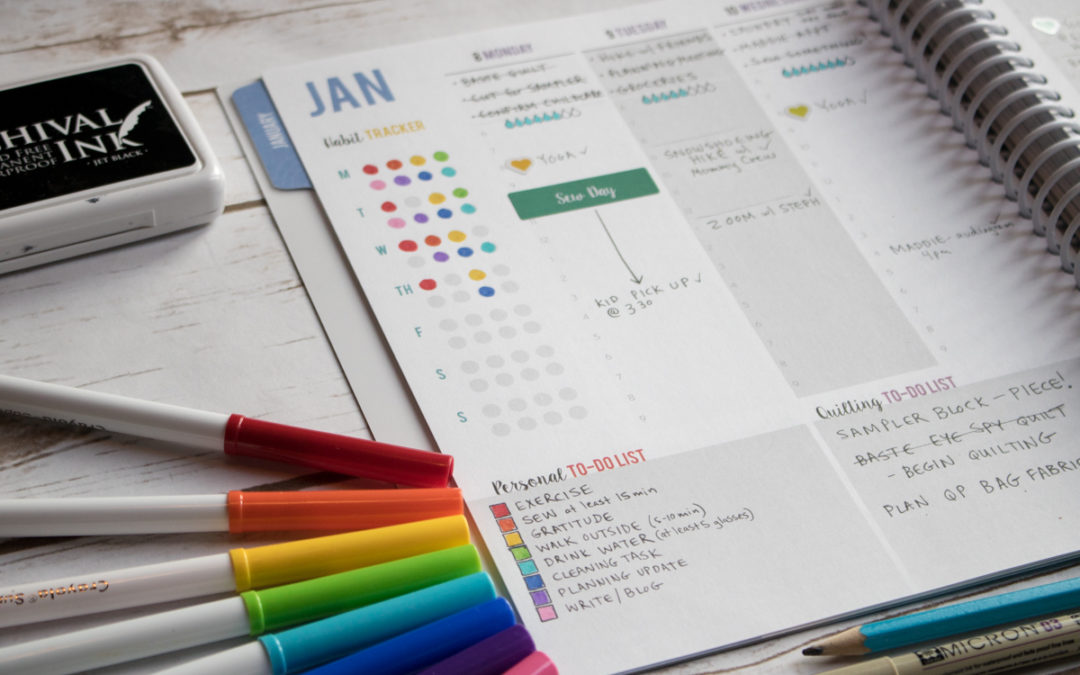 How to Track Your Habits with The Quilter's Planner