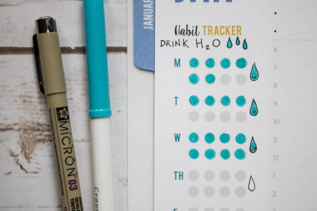 habit tracker tips water