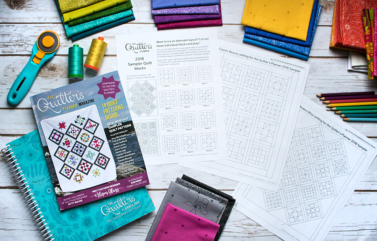 2018 block of the month sampler guide and quilt coloring pages