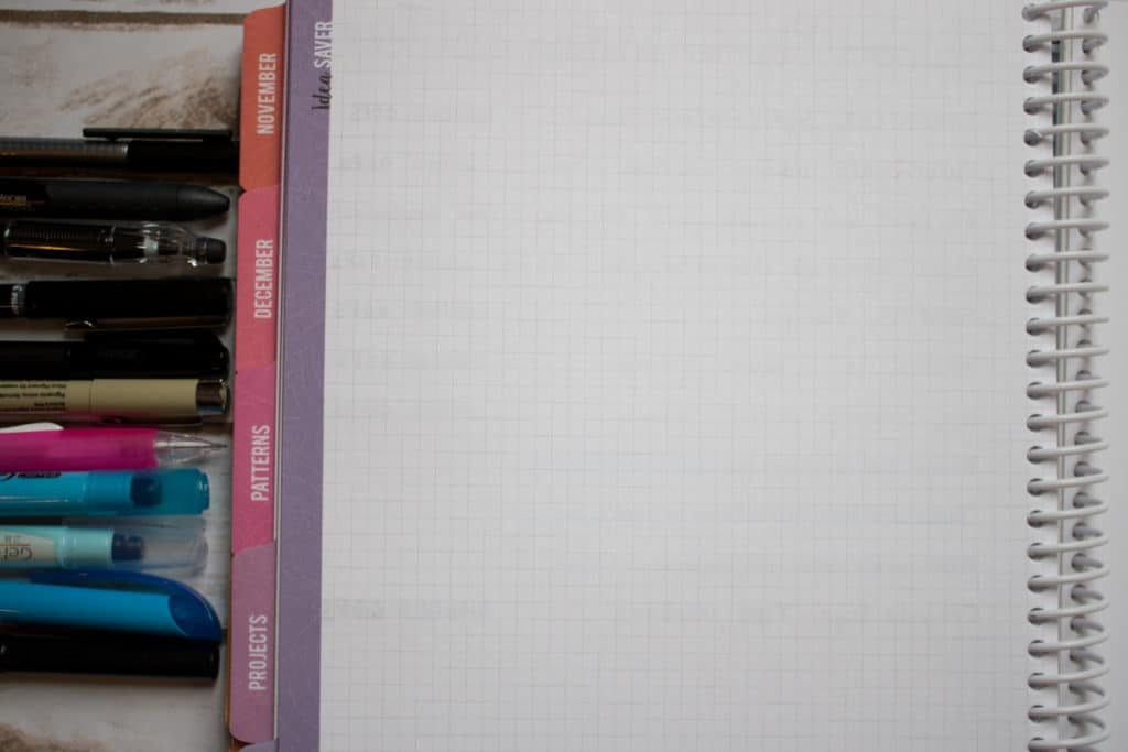 ghosting bleed through test in quilters planner