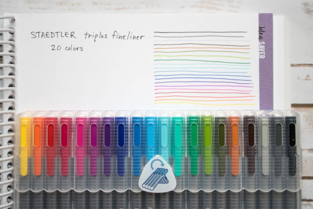 staedtler tripus fineliner colors quilters planner