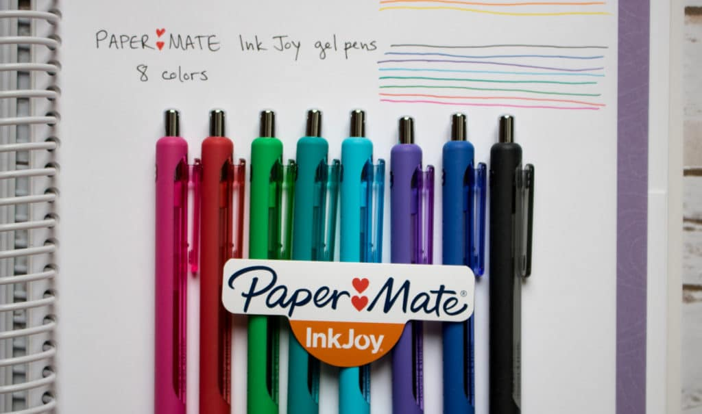 papermate inkjoy pen test quilters planner