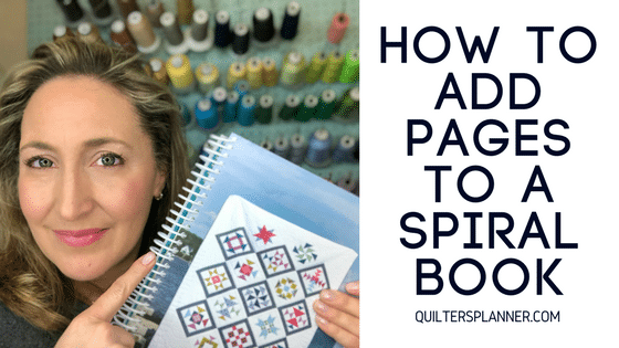 How to Add Pages to A Spiral Book