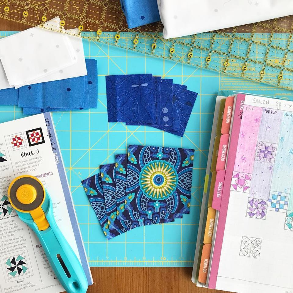Quilter's Planner Block of the Month March 2018