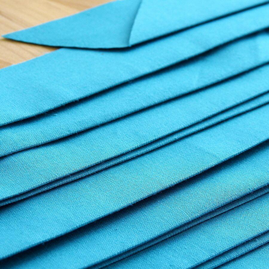 Straight Grain Double Fold Binding