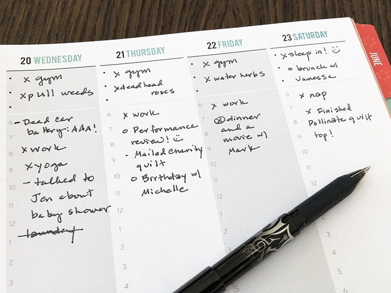 How To Use Bullet Journaling In Your Quilters Planner The