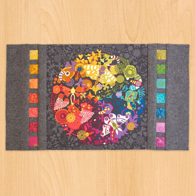 Free Pattern: Riot of Color Planner Cover Panel PDF Pattern
