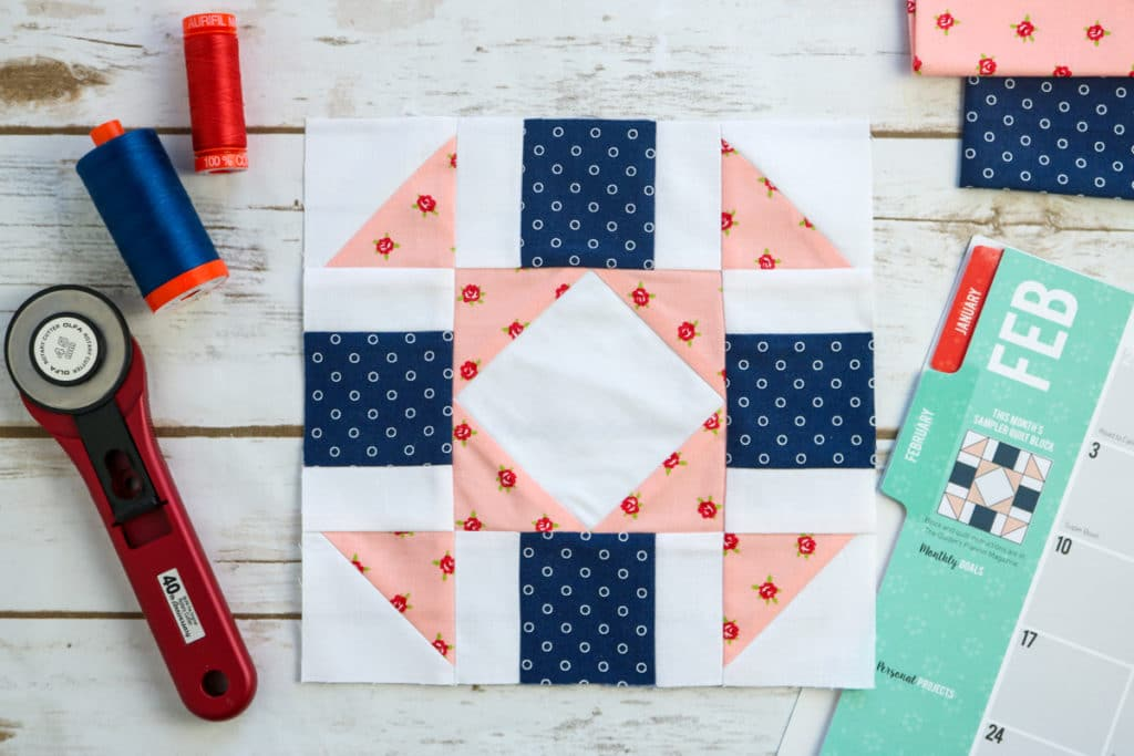 quilters planner sew along block of the month february