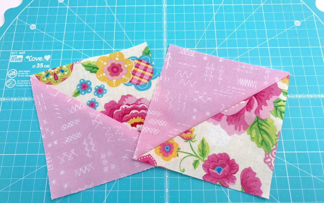 Patchwork Piecing Tricks – Half Square Triangles