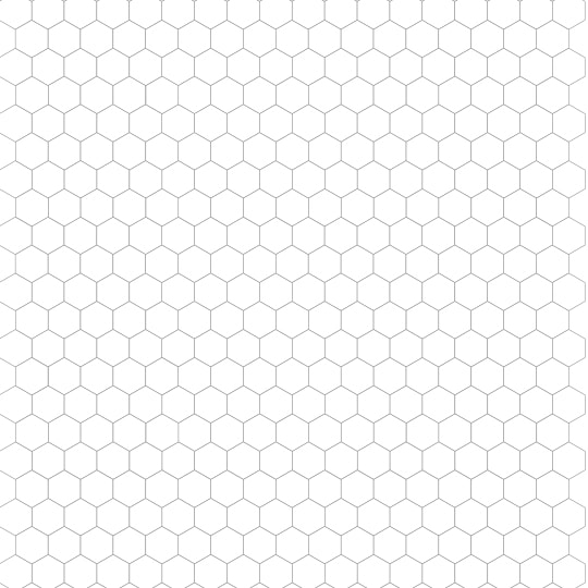 Transformative image throughout printable hexagon grid