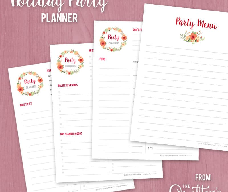 Free printable: Holiday Party Planner