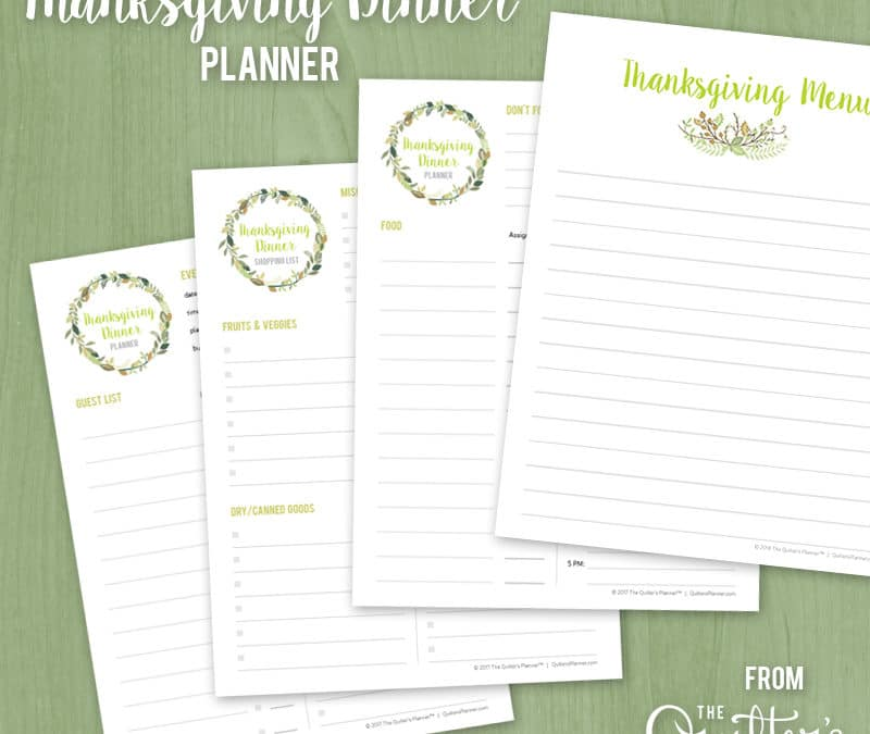 Free printable: Thanksgiving Dinner Planner