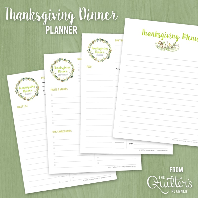 graphic relating to Thanksgiving Planner Printable called Cost-free printable: Thanksgiving Supper Planner The Quilters